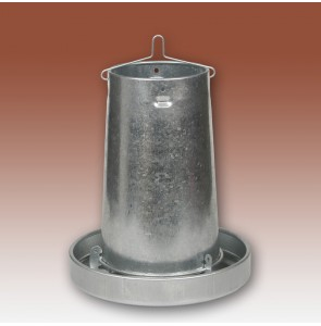 Metal Chicken Feeder & Anti Waste Ring & Lid