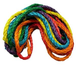 Coloured Sisal Rope 1cm