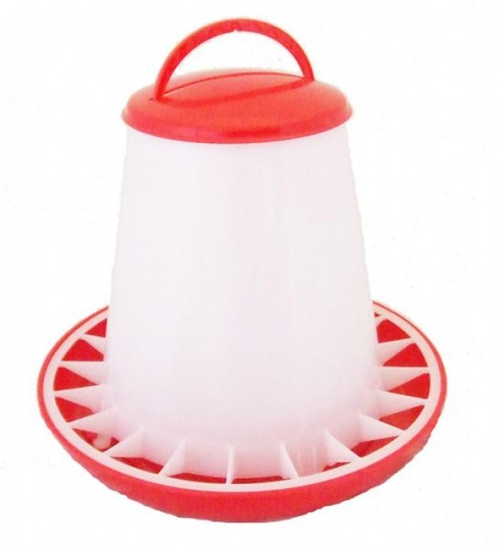 Budget Chicken Feeder Red / White 3kg