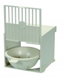 Canary External Nest Pan Cream Plastic