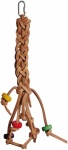 Leather Plait Parrot Toy