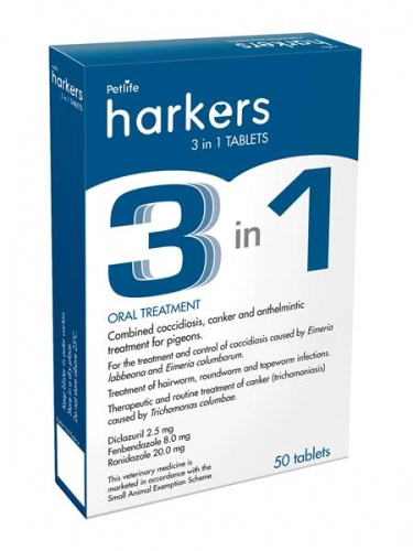 Harkers 3 in 1 Tablets x 50