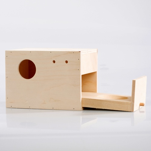 Nest Box - Wood - Budgie with Concave