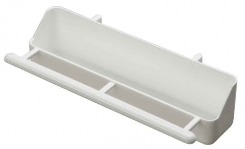 White Trough Feeder with Perch