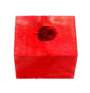Coloured Wooden Block 3.8 x 4.4 x 5cm