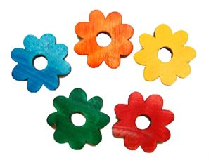 Coloured Wooden Daisies
