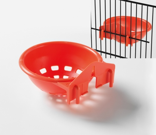 Canary Nest Pan with Hooks (orange)