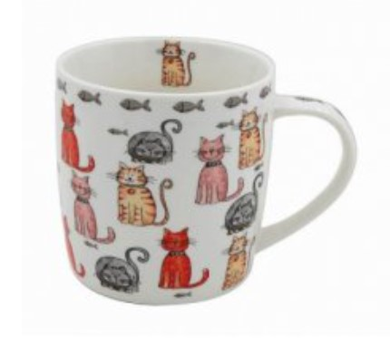 Cat Illustrations Mug - B (Multi Cats)