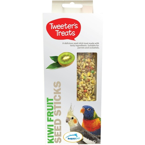 Tweeters Treats Seed Sticks For Parrots - Kiwi