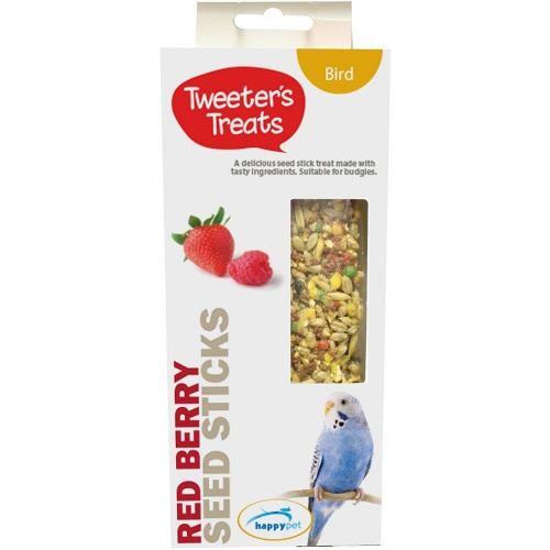 Tweeters Treats Seed Sticks For Budgies - Red Berry