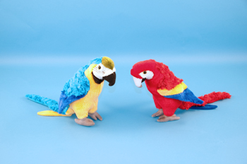 Blue & Gold Macaw Parrot Soft Toy