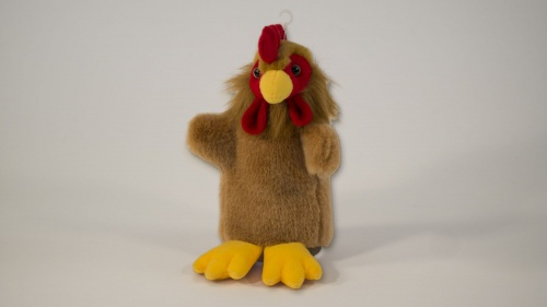 Cockerel Chicken Hand Puppet