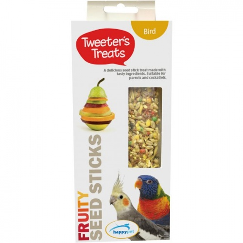 Tweeters Treats Seed Sticks For Parrots - Fruity