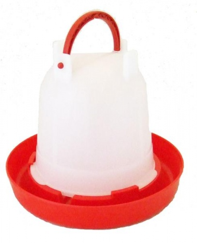Budget Chicken Drinker Red / White 1.5 Litre