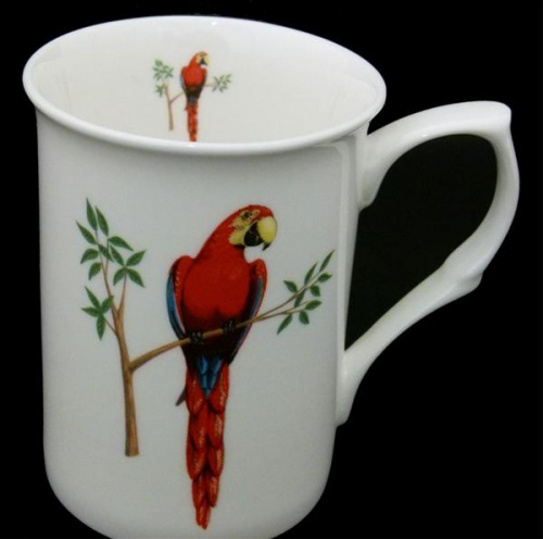 Scarlet Macaw China Mug