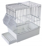 Cage Bird Travel Cage XL (White)