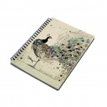 Bug Art Peacock Notepad A5