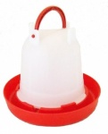 Budget Chicken Drinker Red / White 3 Litre