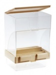 Beige Gravity Seed Hopper with Tray