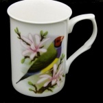 Gouldian Finch China Mug - Red Headed