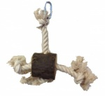 Log and Rope Parrot Toy
